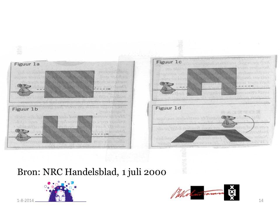1-8-201414 Bron: NRC Handelsblad, 1 juli 2000