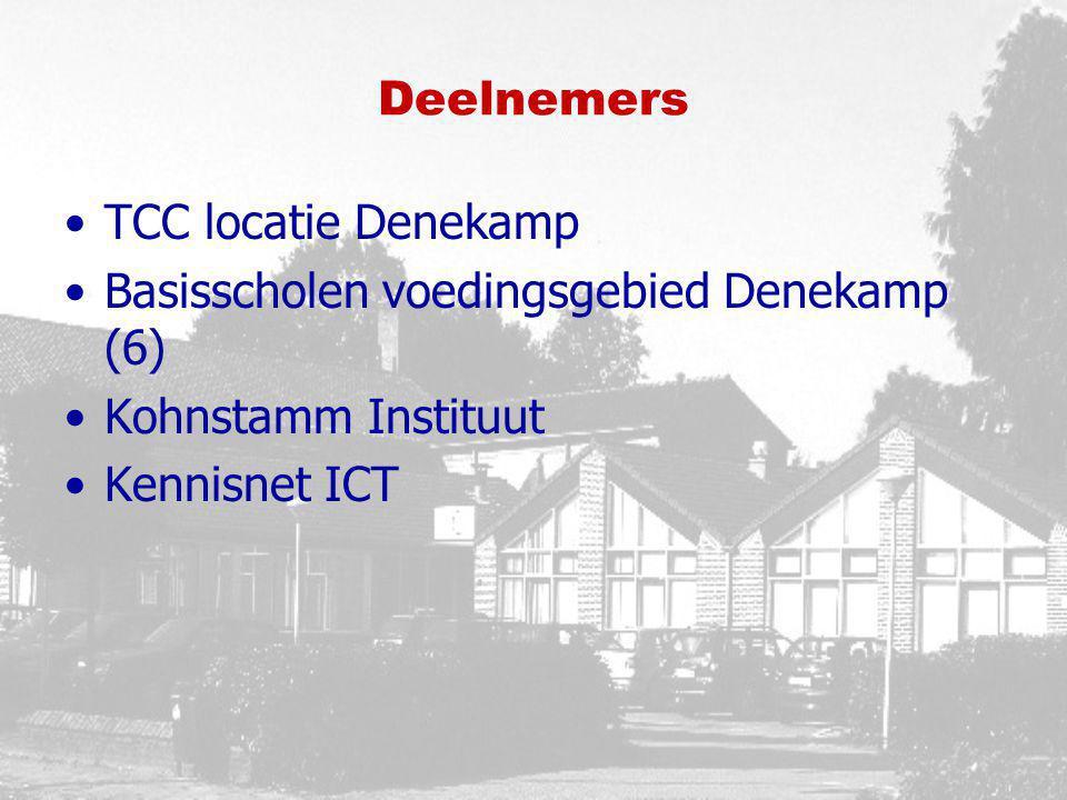 Deelnemers TCC locatie Denekamp Basisscholen voedingsgebied Denekamp (6) Kohnstamm Instituut Kennisnet ICT