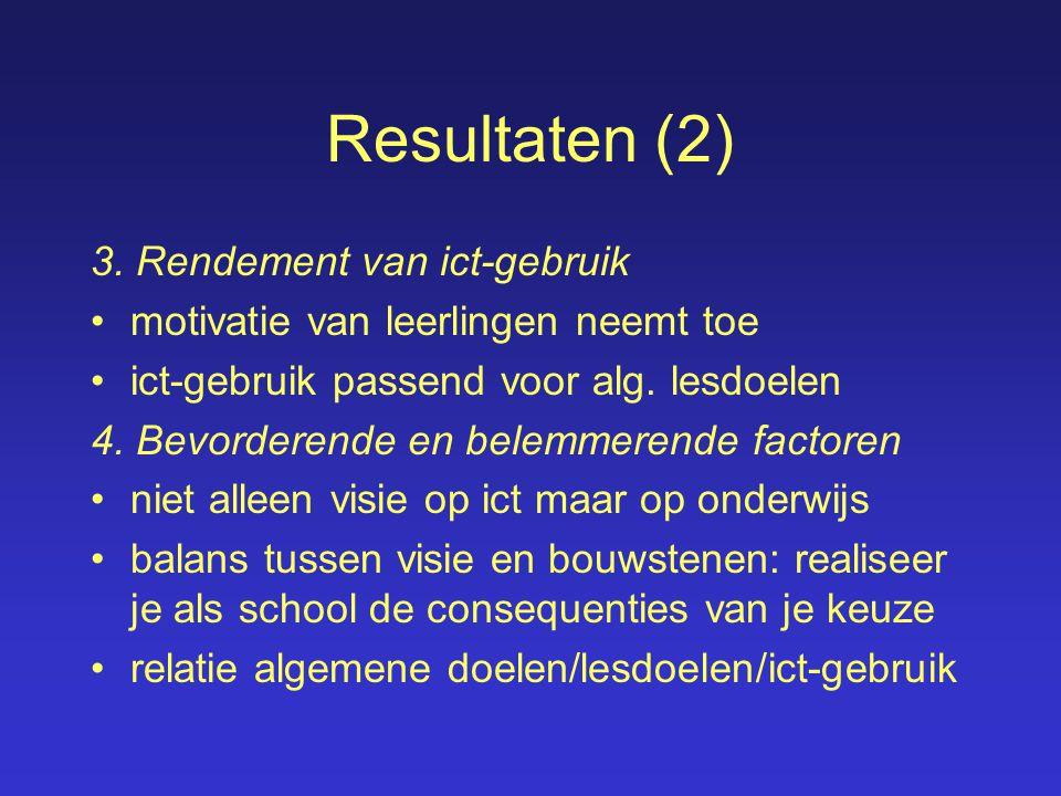 Resultaten (2) 3.
