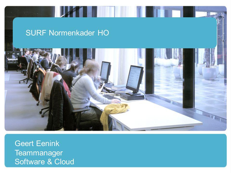 2 Is opgesteld om te komen tot betrouwbare en veilige cloud dienstverlening en stelt normen op het gebied van: vertrouwelijkheid privacy eigendom beschikbaarheid SURF Normenkader