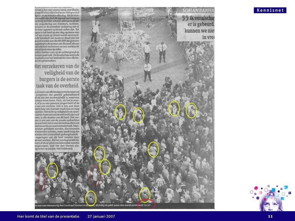 Hier komt de titel van de presentatie 27 januari 200711