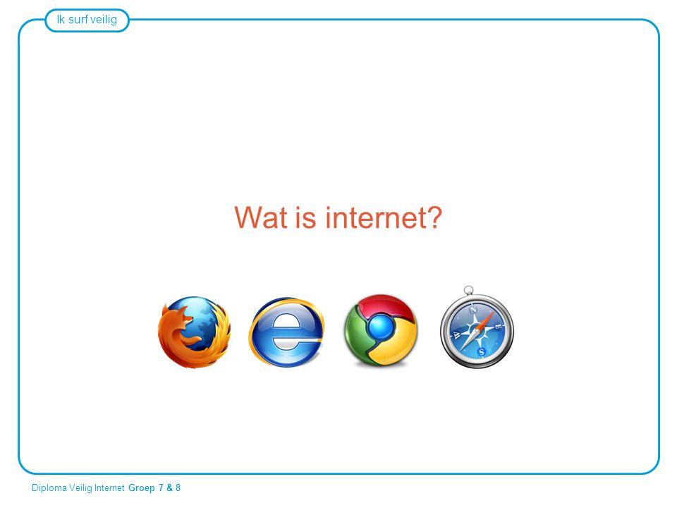 Ik surf veilig Diploma Veilig Internet Groep 7 & 8