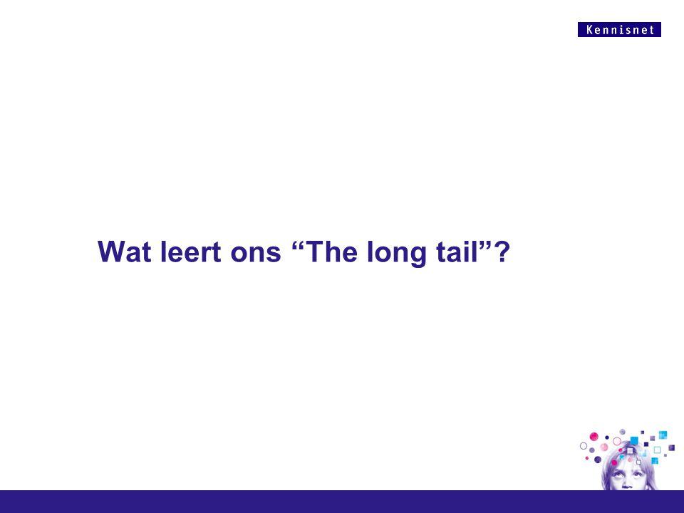 """Wat leert ons """"The long tail""""?"""