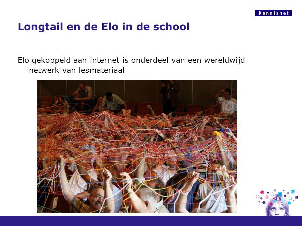 Longtail en de Elo in de school Elo gekoppeld aan internet is onderdeel van een wereldwijd netwerk van lesmateriaal