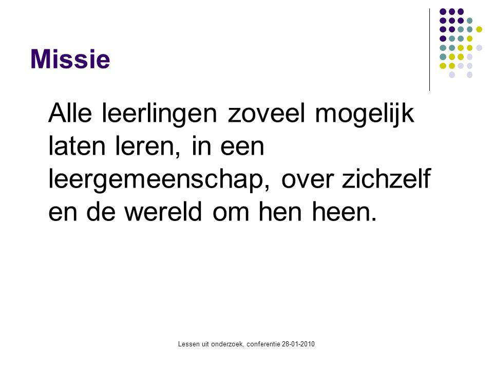 Lessen uit onderzoek, conferentie 28-01-2010 Kenmerken van het IJburg College Nieuwe school (start sept.