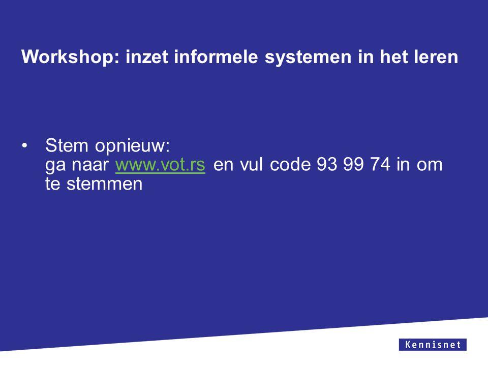 Zorg ervoor dat het tekstvak niet over de witruimte en het logo geplaatst wordt. Zorg ervoor dat de titel uit 1 regel bestaat. Workshop: inzet informe