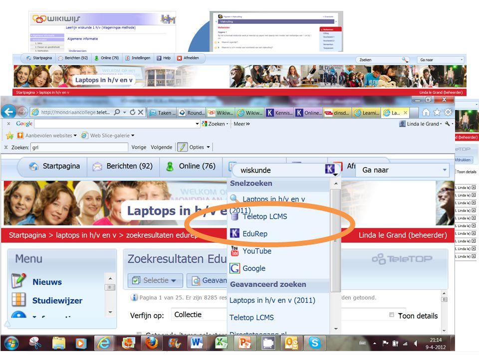 Hele leerlijn Stukje materiaal Rechtstreeks vanuit Wikiwijs Eigen Wikiwijs-arrangement Via elo Zoeken via elo