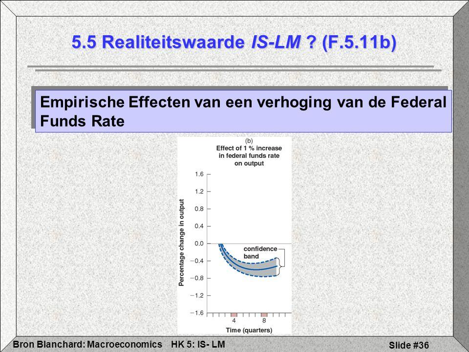 HK 5: IS- LMBron Blanchard: Macroeconomics Slide #36 5.5 Realiteitswaarde IS-LM .