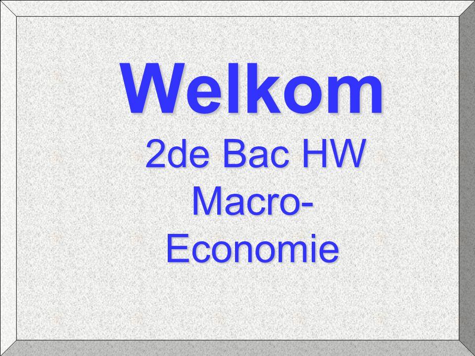 Welkom 2de Bac HW Macro- Economie