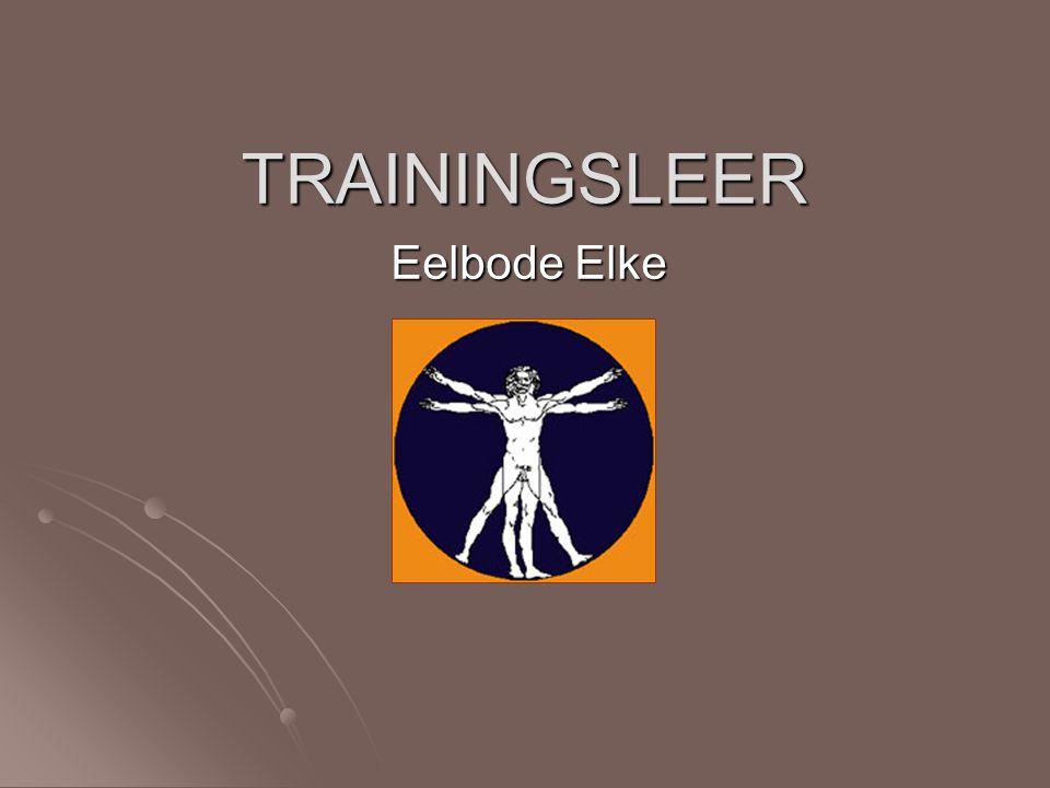 TRAININGSLEER Eelbode Elke