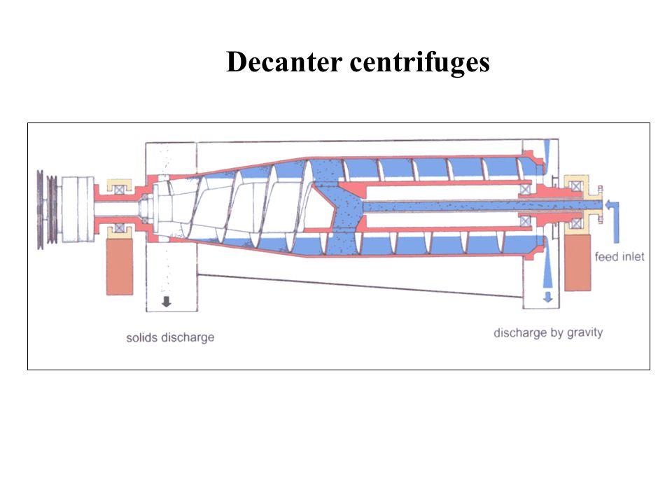 Decanter centrifuges
