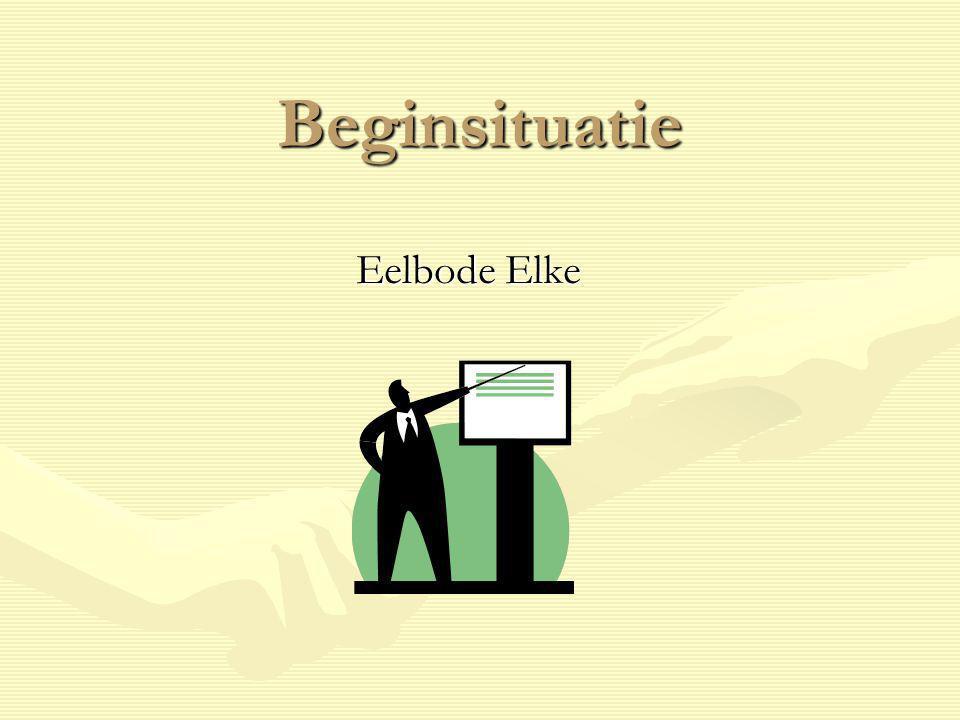 Beginsituatie Definitie E.De Corte.