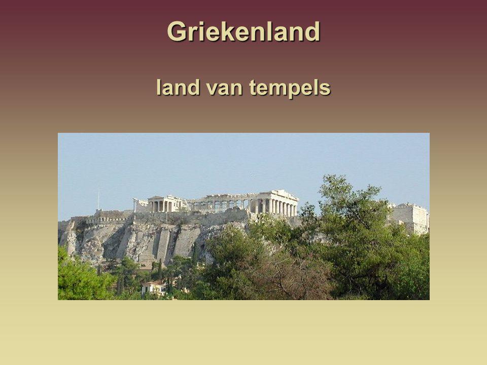 Griekenland land van tempels