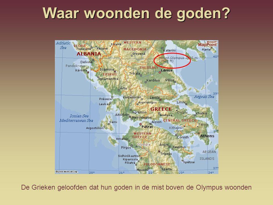 De Olympus heeft niets te maken met de Olympische spelen.