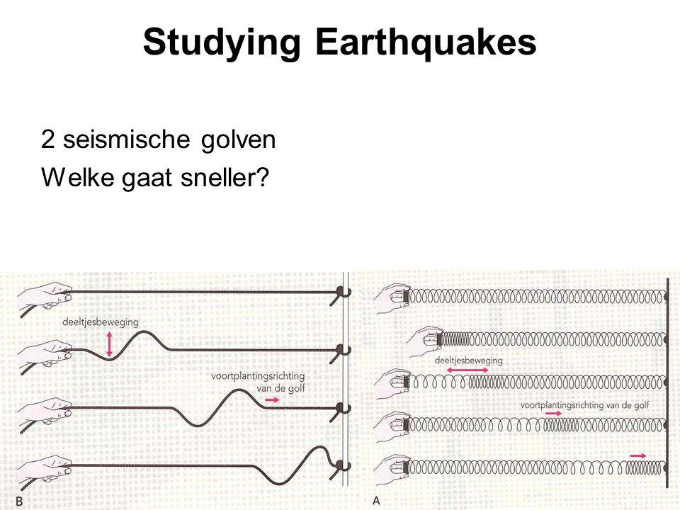 Studying Earthquakes 2 seismische golven Welke gaat sneller?