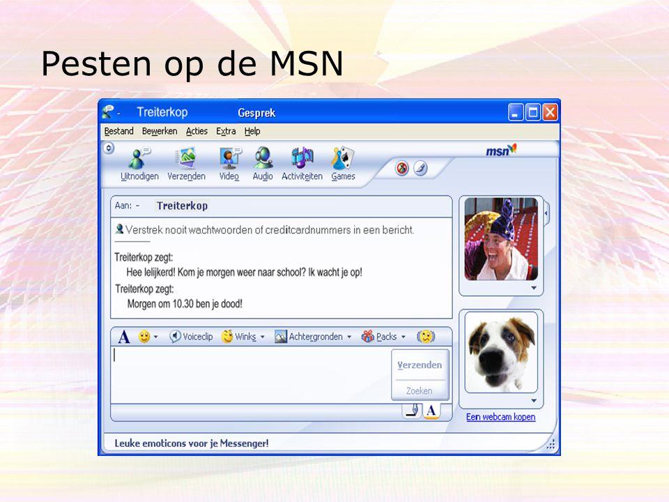 Tips en gespreksonderwerpen Blijf in contact met uw leerling Maak afspraken over internet, MSN en de mobiel En wat zijn de sancties.