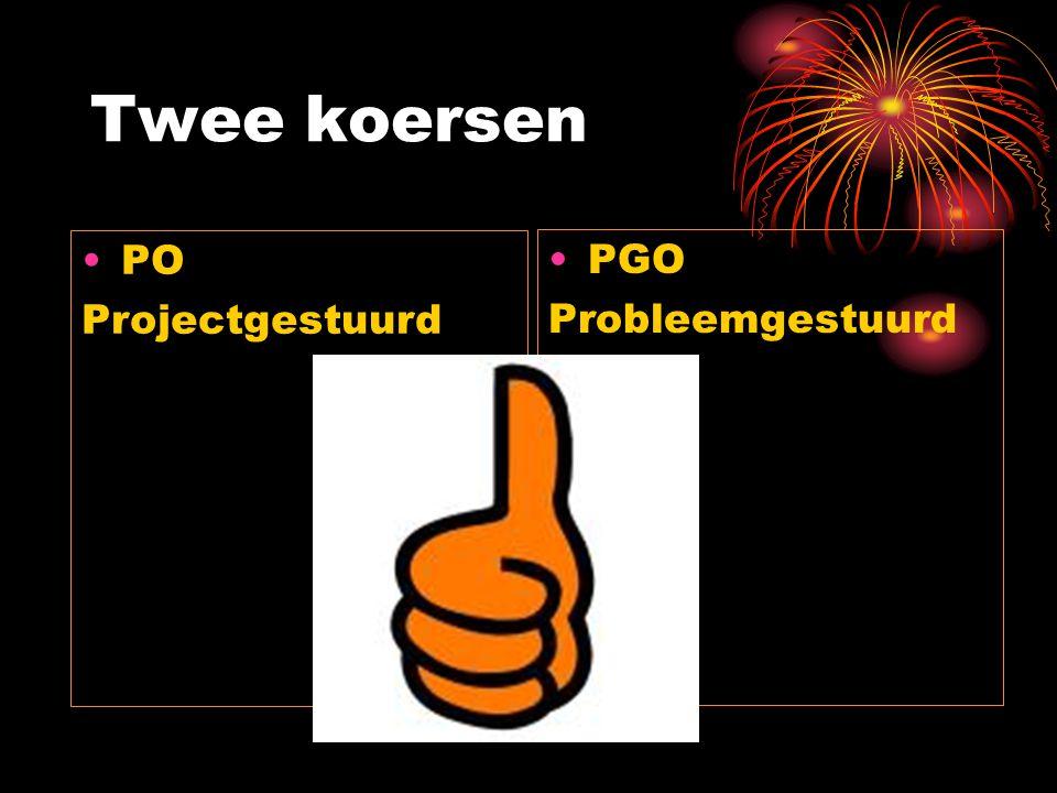 Twee koersen PGO Probleemgestuurd PO Projectgestuurd