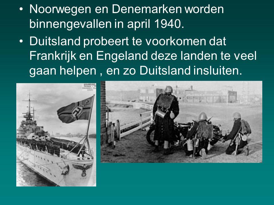 Noorwegen en Denemarken worden binnengevallen in april 1940.