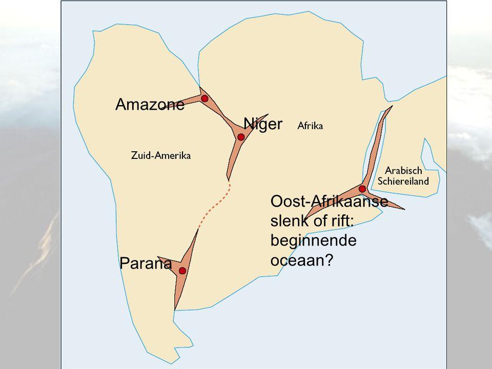 Amazone Parana Niger Oost-Afrikaanse slenk of rift: beginnende oceaan?