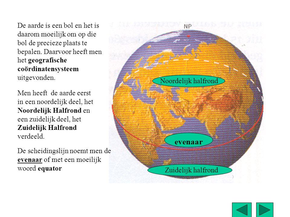 Het Noordelijk Halfrond wordt ook wel Noorder Breedte afgekort NB genoemd.