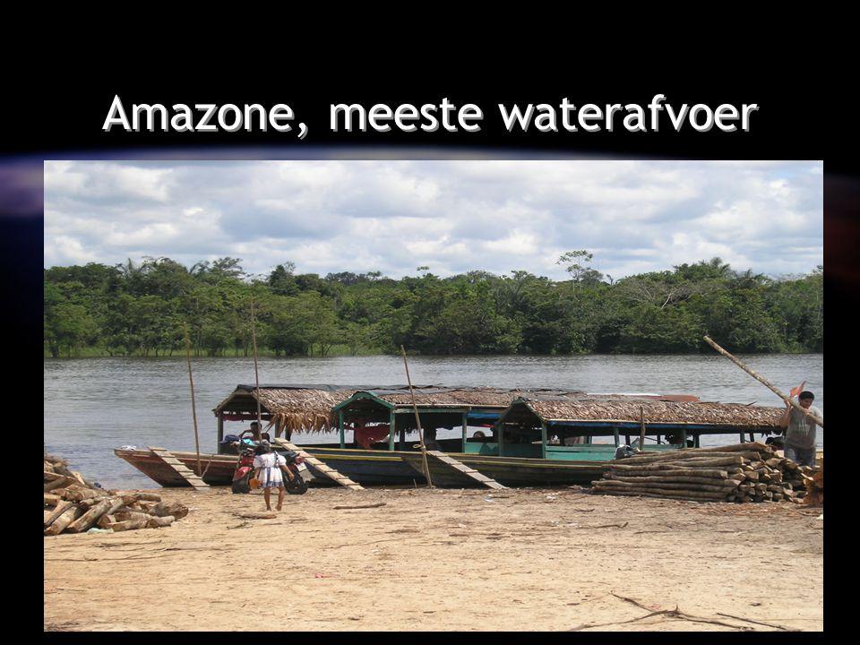 Amazone, meeste waterafvoer