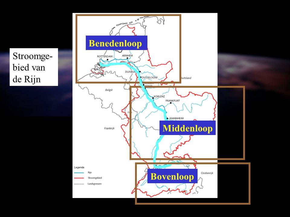 Bovenloop Stroomge- bied van de Rijn Middenloop Benedenloop