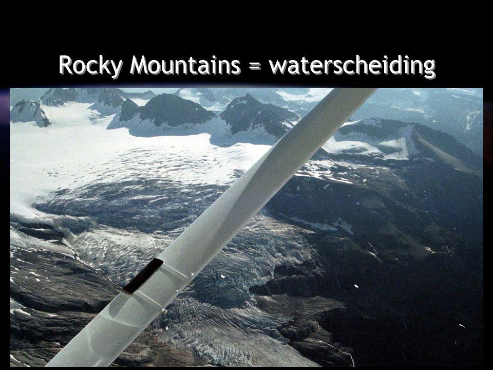 Rocky Mountains = waterscheiding