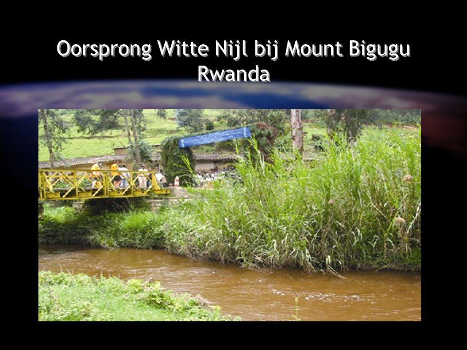 Oorsprong Witte Nijl bij Mount Bigugu Rwanda