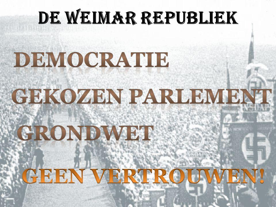 De Weimar republiek
