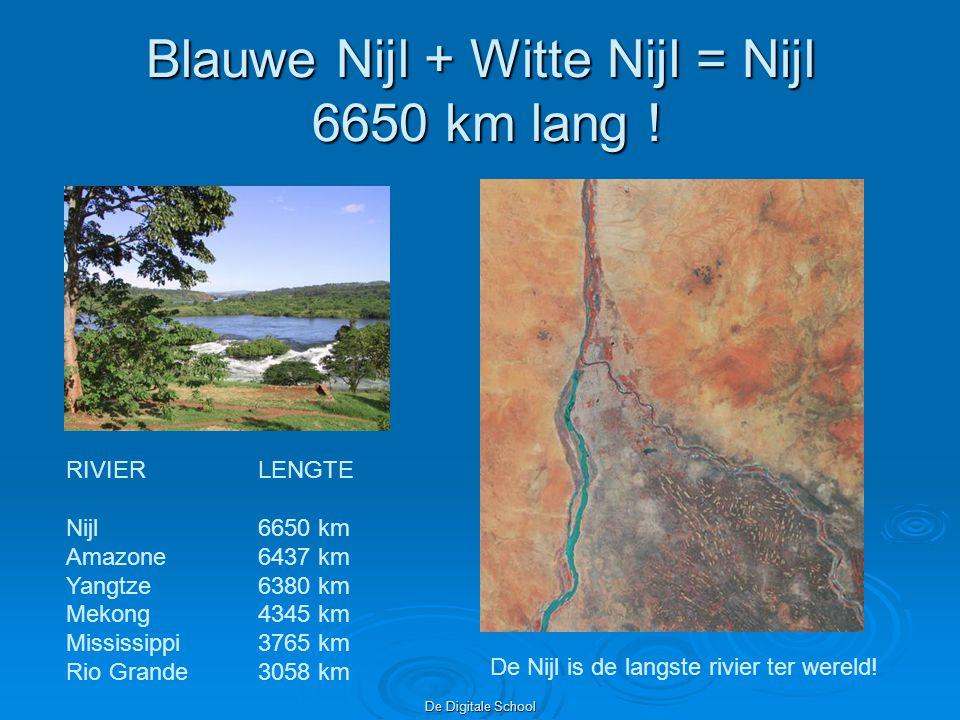 De Digitale School Blauwe Nijl + Witte Nijl = Nijl 6650 km lang .