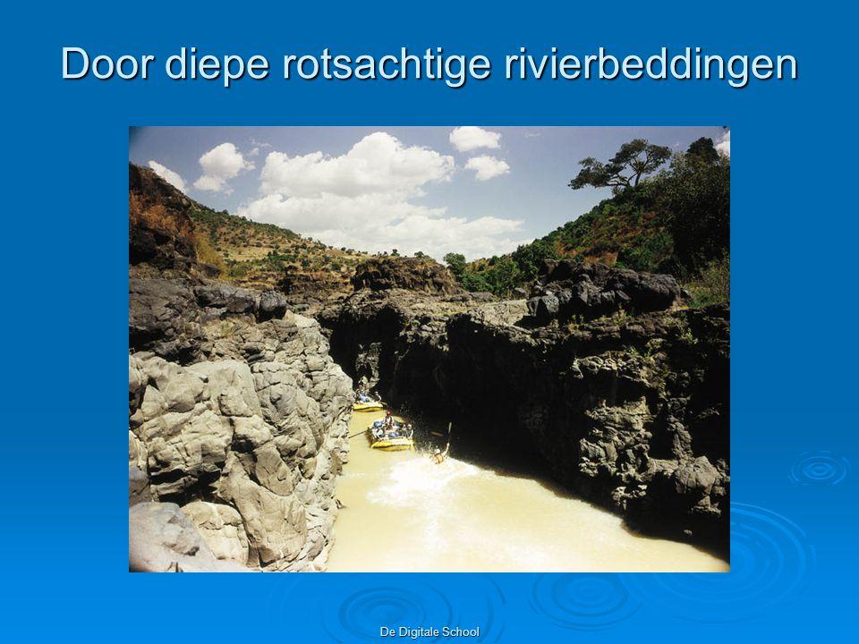 De Digitale School Door diepe rotsachtige rivierbeddingen