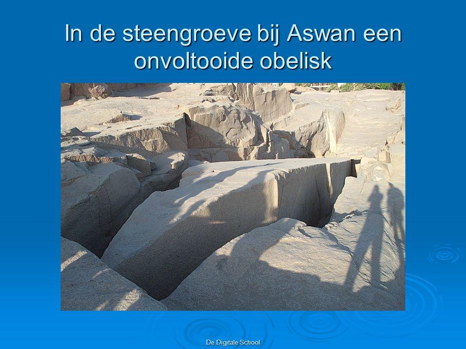 De Digitale School In de steengroeve bij Aswan een onvoltooide obelisk