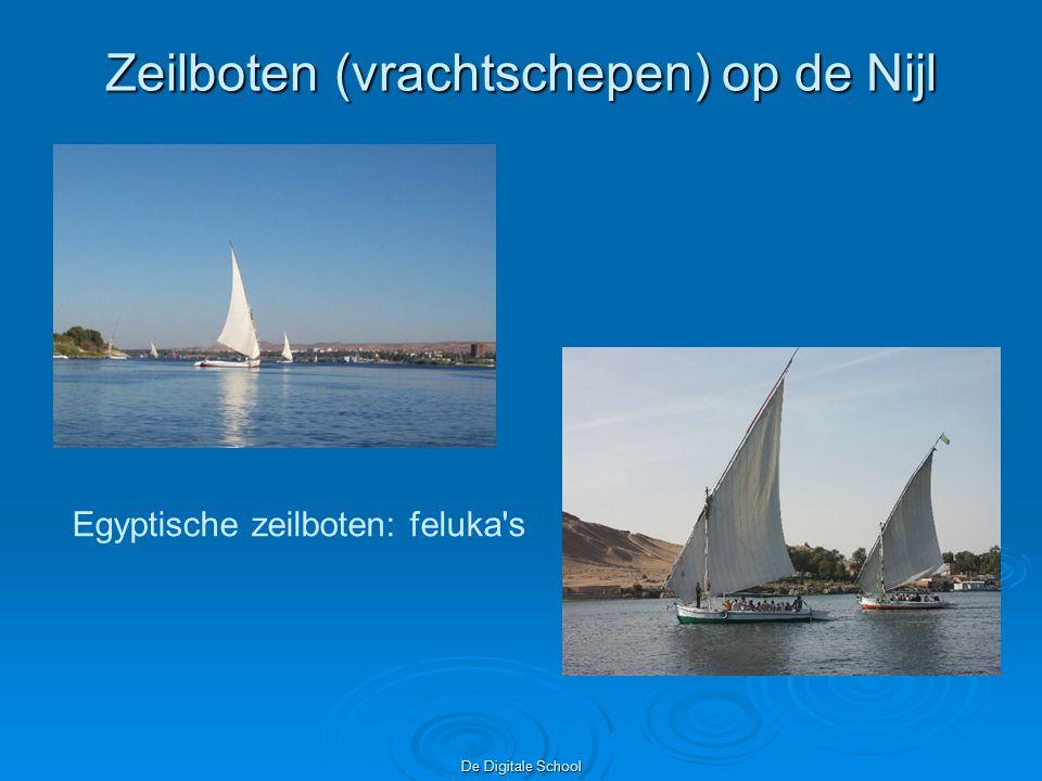 De Digitale School Zeilboten (vrachtschepen) op de Nijl Egyptische zeilboten: feluka s