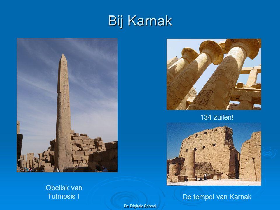 De Digitale School Bij Karnak Obelisk van Tutmosis l 134 zuilen! De tempel van Karnak