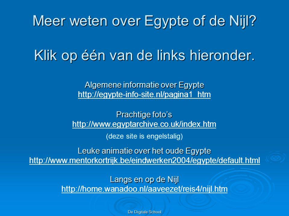 De Digitale School Meer weten over Egypte of de Nijl.
