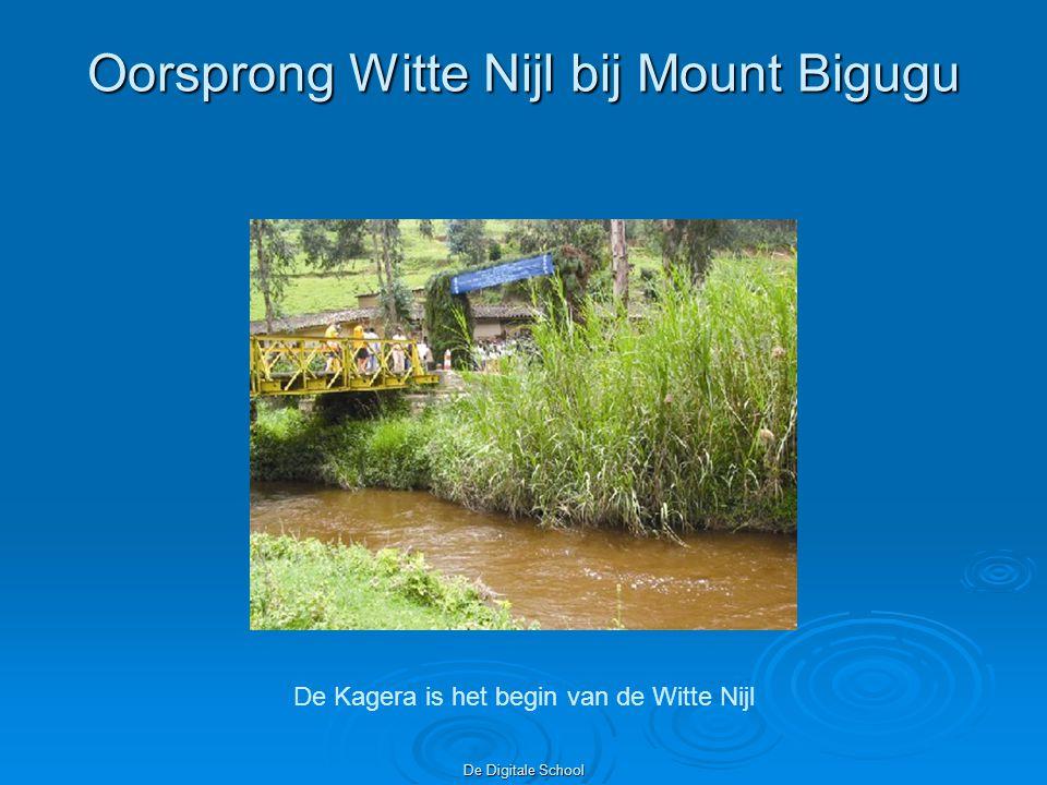 De Digitale School Oorsprong Witte Nijl bij Mount Bigugu De Kagera is het begin van de Witte Nijl