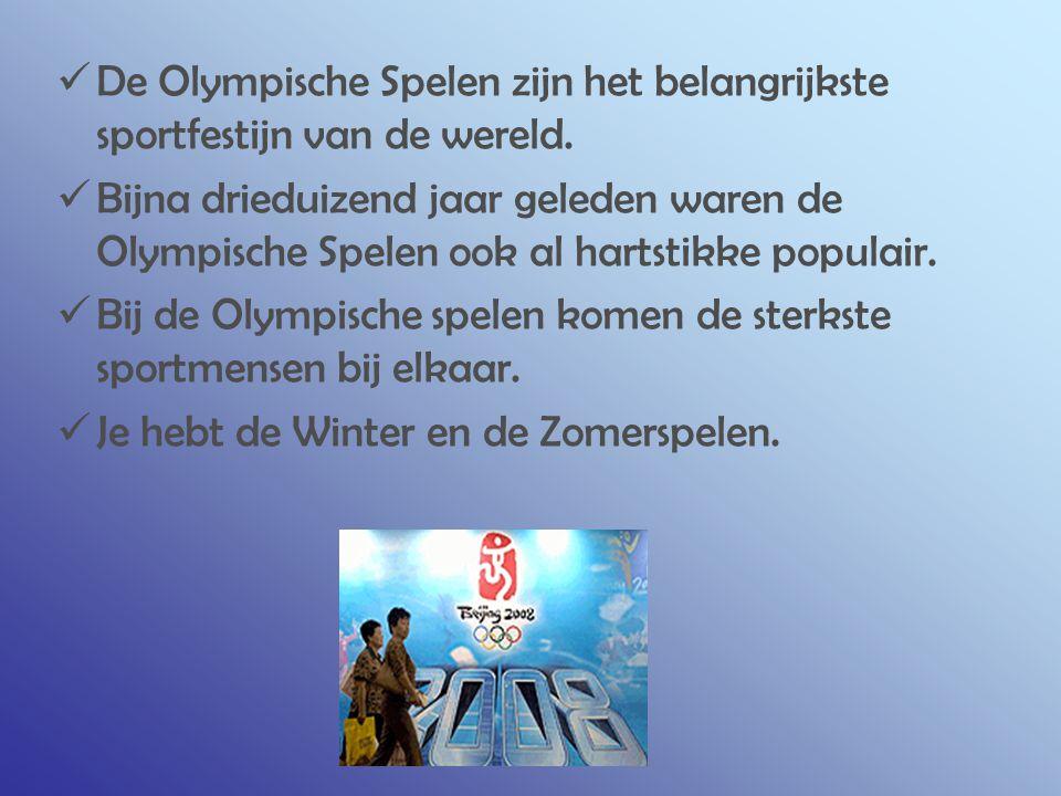 DE VLAG De Olympische vlag is ontworpen door Pierre De Coubertin.