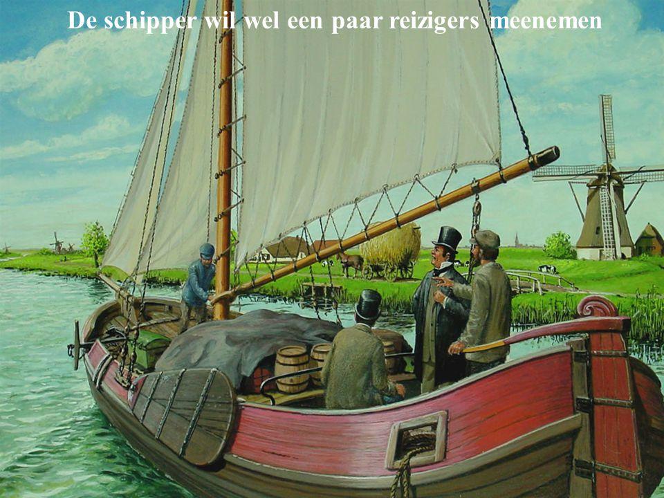 De schipper wil wel een paar reizigers meenemen