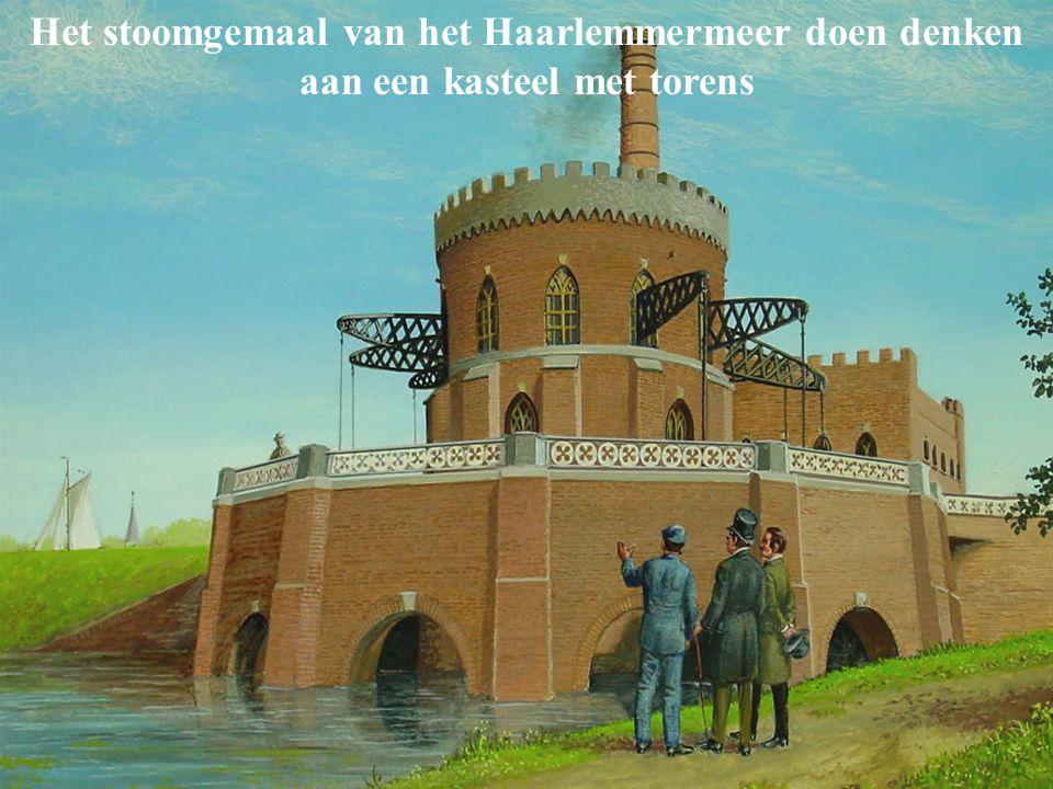 Het stoomgemaal van het Haarlemmermeer doen denken aan een kasteel met torens