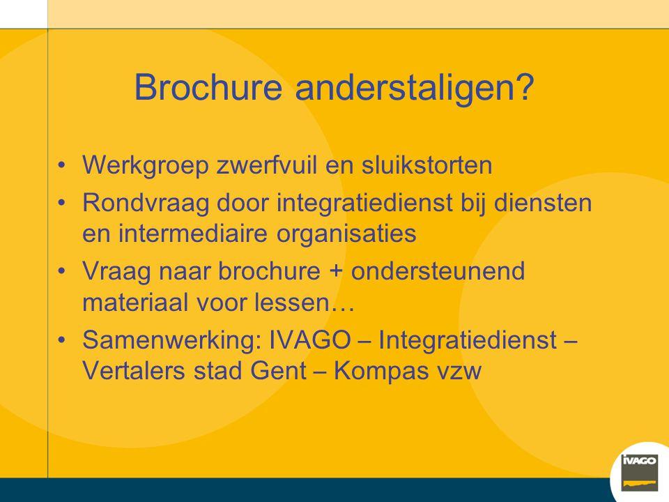 Brochure voor anderstaligen