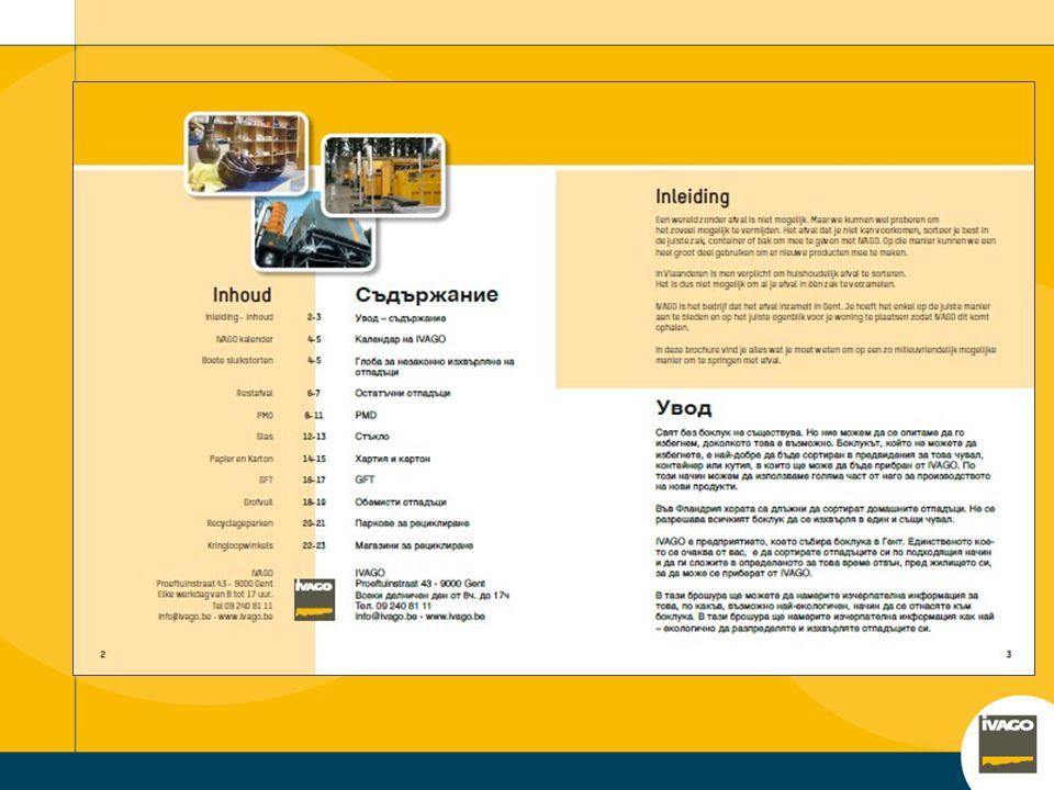 gebruik Niet: bus-aan-bus verspreiden ronddelen In een rek of op een tafel leggen Wel Hulpmiddel bij persoonlijke toelichting door (professionele) int
