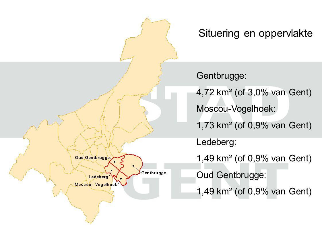Werkloosheidsgraad: Aantal niet-werkende werkzoekenden Potentieel actieve bevolking (18-64) Gent: 8%  Op wijkniveau schommelt dit tussen 3% en 17% Ledeberg: 11% Oud Gentbrugge: 8% Moscou – Voglehoek: 6% Gentbrugge: 4%