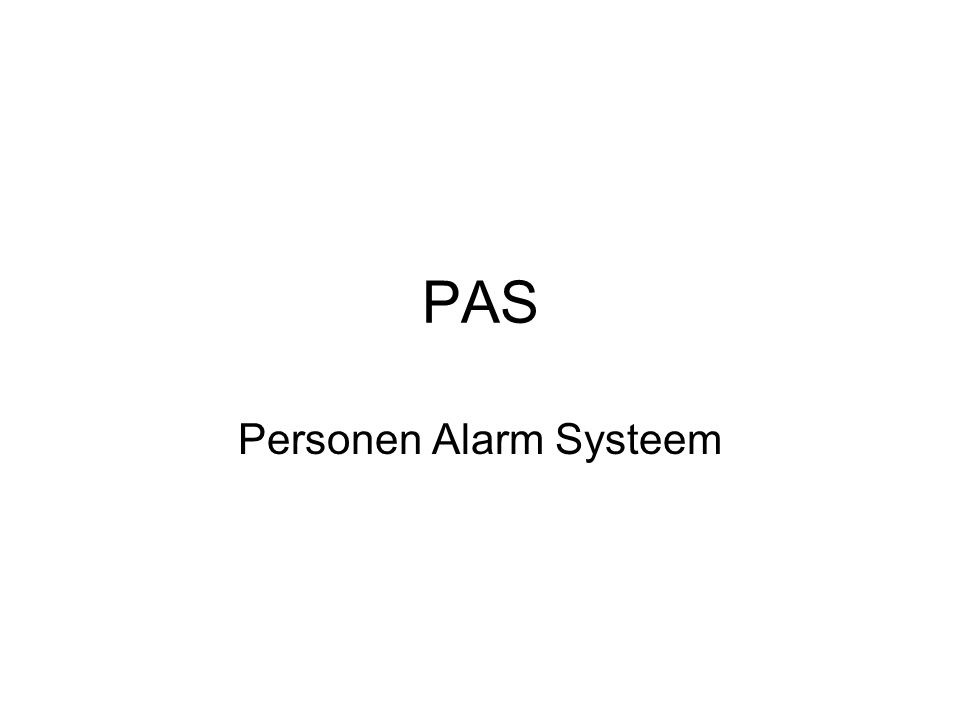 PAS Personen Alarm Systeem
