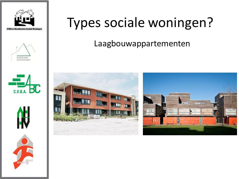 Types sociale woningen Laagbouwappartementen