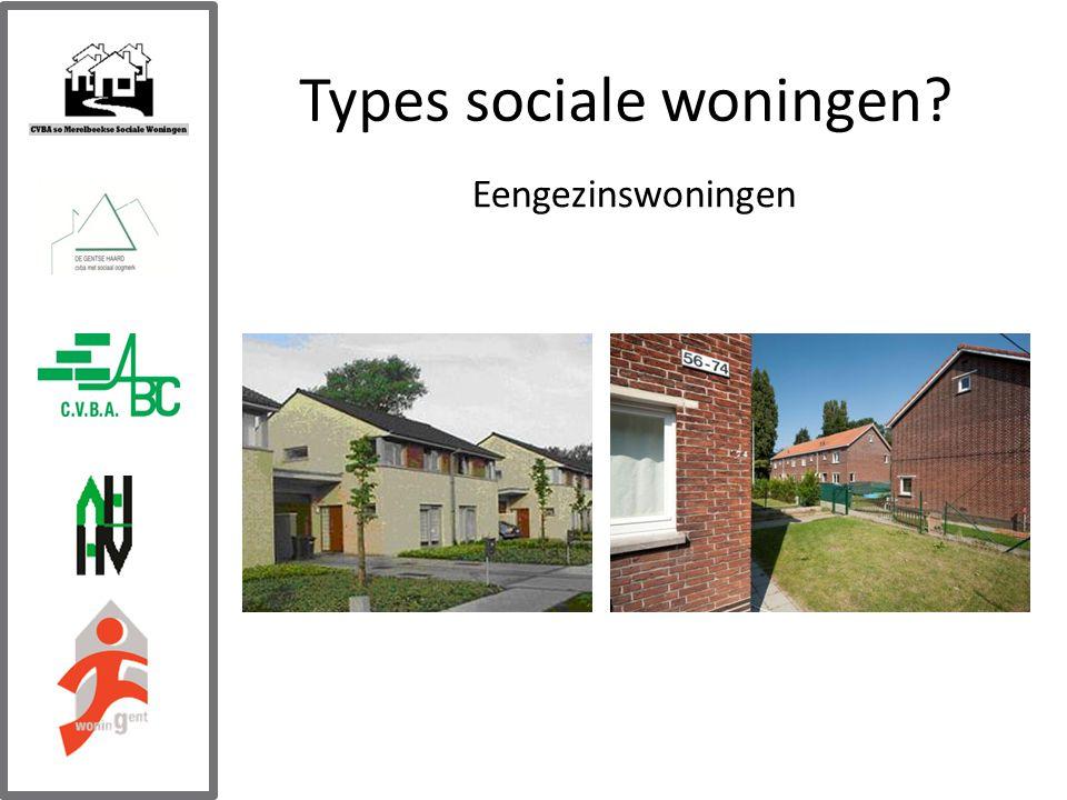 Types sociale woningen Eengezinswoningen
