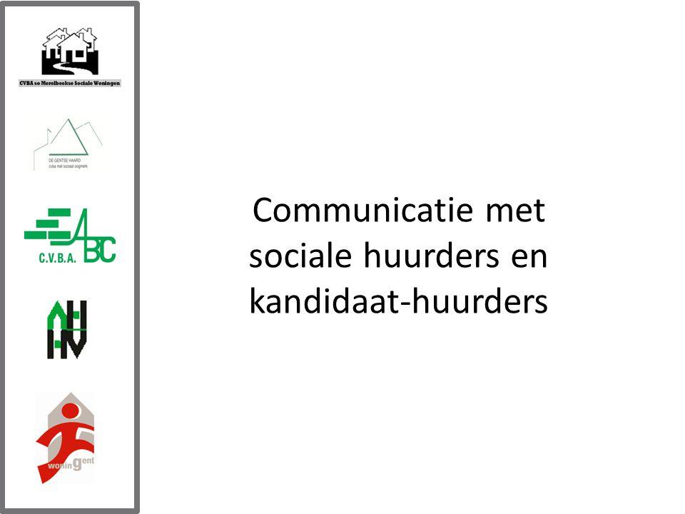 Communicatie met sociale huurders en kandidaat-huurders
