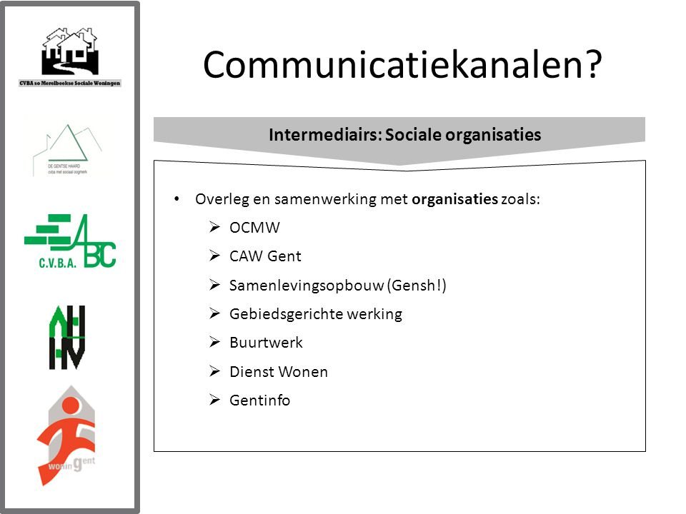 Communicatiekanalen.