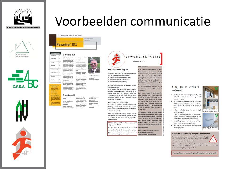 Voorbeelden communicatie
