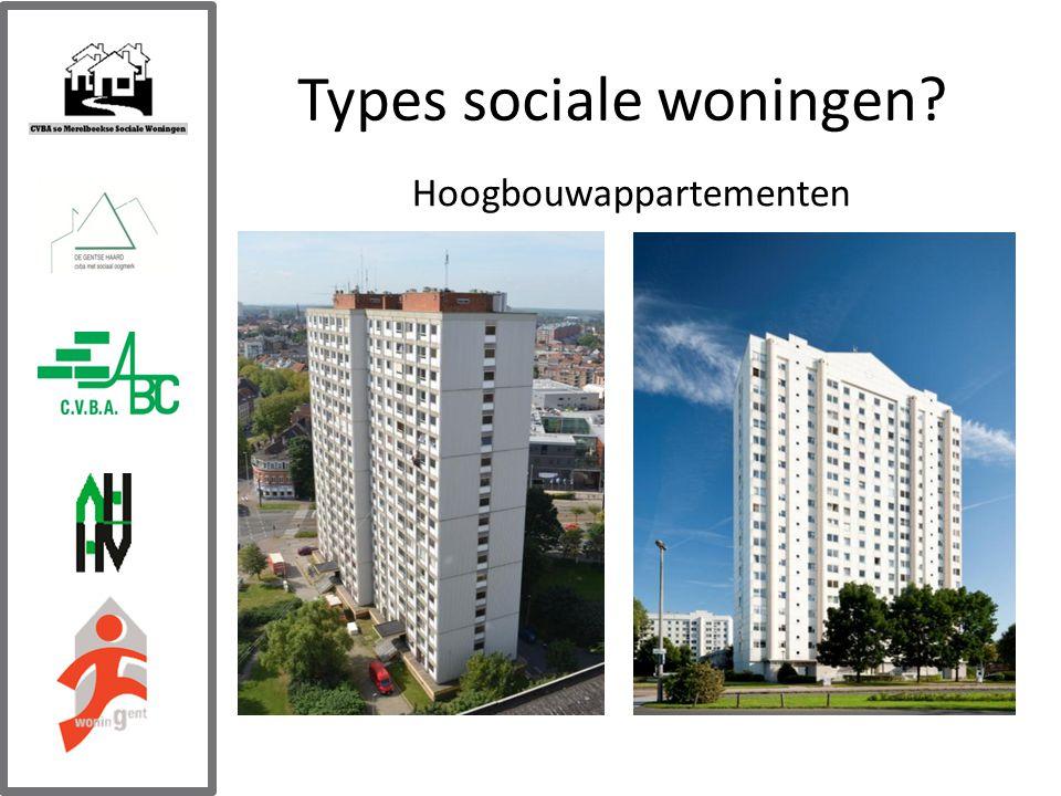 Types sociale woningen Hoogbouwappartementen