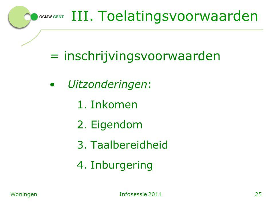 Infosessie 201125Woningen III.
